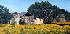 Летний пейзаж маслом на холсте на